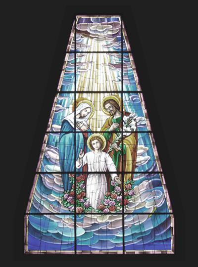 Vetrata Chiesa Sacra Famiglia Siracusa